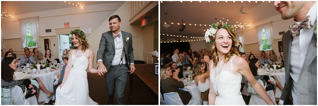 Fort Langley Hall wedding reception