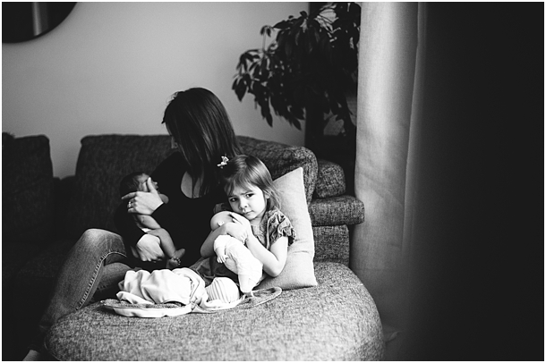 black and white lifestyle family photography